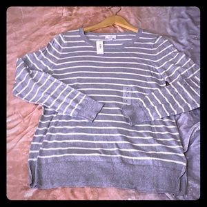 NWT OLD NAVY Women's sweater size L silver sparkle